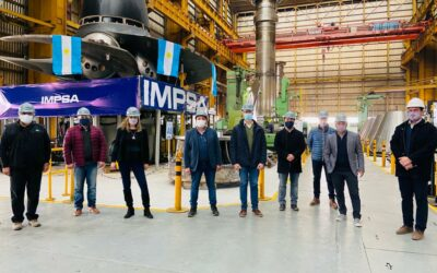 The Board of Directors of the Association of Metallurgical Industries of the Province of Mendoza visited IMPSA
